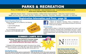 Bucks County Tax Map Parks And Recreation Winter Spring Brochure U2013 Newtown Township