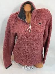 secret pink sweater victorias secret pink half zip sherpa sweater size xs