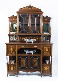 Antique Edwardian Display Cabinet 07017 Antique Edwardian Inlaid Rosewood Cabinet C 1900 1