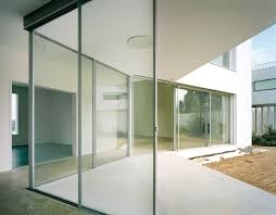 Glass Wall Design by Minimalist House For Art Collector Idesignarch Interior Design