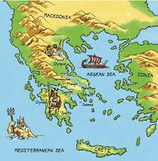 Sparta On Map Map Of Ancient Greece Thinglink