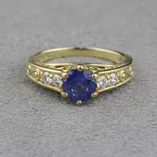 jewelry rings sapphire images Pre owned brilliant earth sapphire and diamond ring jpg