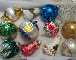 German Glass Christmas Tree Decorations by Indent Ornaments Etsy
