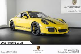 porsche 911 price 2016 2016 porsche 911 r for sale in colorado springs co c161 porsche