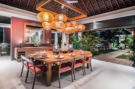 Balinese Dining Table 3 Bedroom Villas Chandra Bali Villas