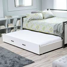 white trundle bed frame wooden bedstead with guest sleeper osorno