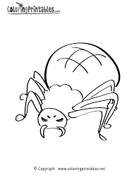 spider coloring free boys coloring printable