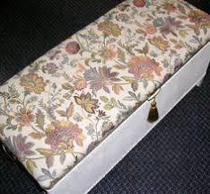vintage loom wicker ottoman storage linen blanket box chest basket