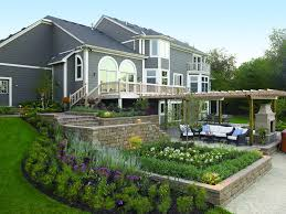 front yard landscaping ideas with retaining walls garden post cool