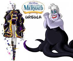 ursula fashion update disney villains mermaid stylefrizz