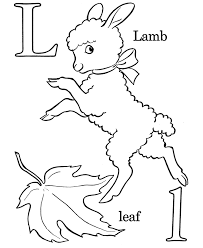 alphabet coloring pages letter l free printable farm abc