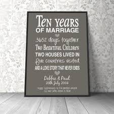 10th anniversary gift 10 wedding anniversary gift unique gift ideas for your 10th