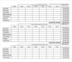 Free Timesheet Template Excel 12 Daily Timesheet Templates Free Sle Exle Format