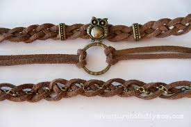 make leather woven bracelet images How to make braided leather stacked bracelets adventures of a jpg