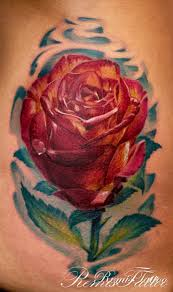 realistic rose tattoo color remis tattoo