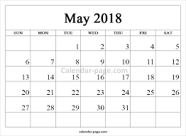 printable calendar pages 2018 blank calendar template and printable calendar pages