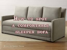Sleeper Sofa Comfortable How To Spot A Comfortable Sleeper Sofa A Pratical Review