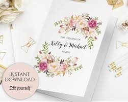 folded wedding program template folded wedding program template folded ceremony template