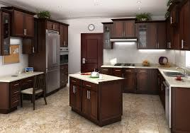 Self Assemble Kitchen Cabinets Cognac Shaker Rta Cabinets Mocha Colored Cabinet Mania