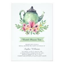 bridal shower tea party invitations u0026 announcements zazzle