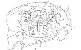 retractable table ford patents retractable table for autonomous cars