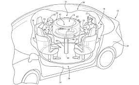 ford patents retractable table for autonomous cars