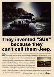 vintage jeep ad michael atkins seattle trademark lawyer chrysler u0027s ad tells