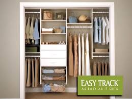 attractive menards closet organizer easy track 4 to 8 deluxe