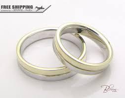 two tone wedding bands two tone wedding band 14k solid gold wedding rings gold