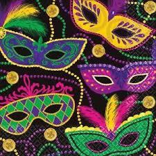 mardi gras mardi gras masks beverage napkins 16ct zurchers