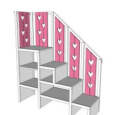 Bunk Bed Storage Stairs White Sweet Pea Garden Bunk Bed Storage Stairs Diy Projects