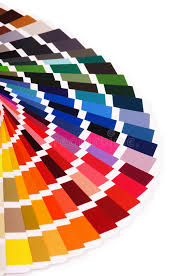 color palette guide of paint samples catalog color chart stock