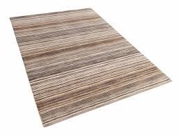 Cotton Wool Rugs Cotton Rug Wool Rug Floor Mat Area Rug Striped Brown Living