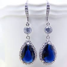 royal blue earrings shop navy blue bridal jewelry on wanelo