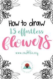 best 25 simple flower drawing ideas on pinterest drawing