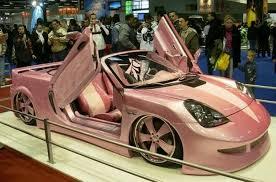 vroom vroom barbie car love pink