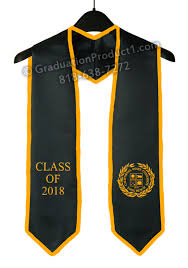 personalized graduation stoles csulb graduation stole with trim as low as 10 99