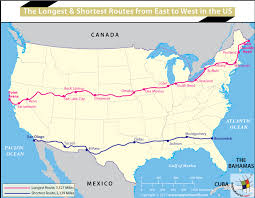 map of east coast states how far is east coast to coast of the united states answers