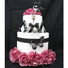 towel cakes dusky pink black wedding towel cake polyvore