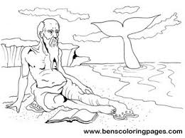 jonah coloring page jonah and the whale coloring pages
