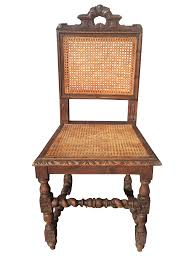 jacobean era carved cane dining chairs set of 5 chairish