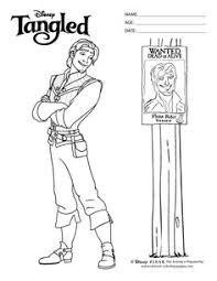 free tangled coloring pages flynn coloring in page rapunzel party pinterest rapunzel and