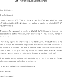 letter of transfer of work location 100 images best solutions