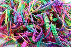 color string bracelet images Rainbow color friendship bracelets for women weave braid strand jpg