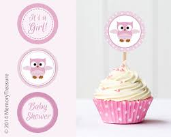 baby shower cake toppers girl owl baby shower cupcake toppers printable baby shower cup cake
