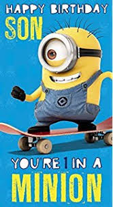 despicable me minion brother happy birthday card amazon co uk