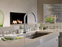 Delta Hands Free Kitchen Faucet Faucet Com 9159t Ar Dst In Arctic Stainless By Delta