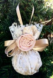 pink and gold lace christmas ornament first christmas wedding
