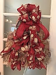 burlap christmas wreath rustic christmas rustic christmas tree for front door burlap
