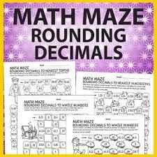 math maze rounding decimals decimals worksheets rounding and